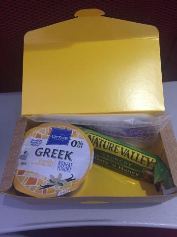 Virgin Breakfast Box BOS - LHR